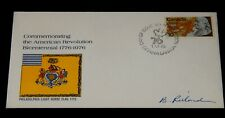 Vintage Cover,1976,CANADA, OTTAWA, ON,FDC,American Revolution Joint Issue,Signed