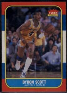 1986-87 FLEER #99 BYRON SCOTT NM-MT RC LAKERS