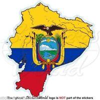 ECUADOR Ecuadorian Map-Flag, South America, Vinyl Bumper  Decal, Sticker