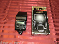 Sunpak Power Zoom 4000AF 4000 AF Blitzgerät Flash Minolta Dynax analog, Garantie