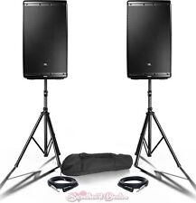 "Bundle - JBL EON612 12"" Powered Active PA Loud Speakers - Live Sound Club DJ PA"
