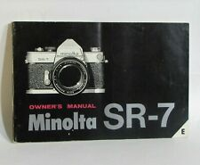 Minolta SR - 7 Camera Owners Instruction Manual Guide 56 pages English