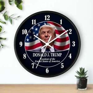 "10"" Wall Clock - President Donald Trump #1 Republican MAGA Make America Great"