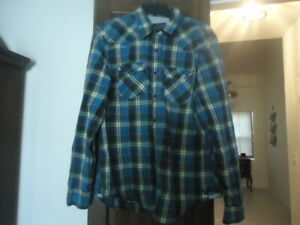 AMERICAN EAGLE MENS WESTERN SYLE SHIRT - EXCELLENT USED CONDITION - SIZE LARGE
