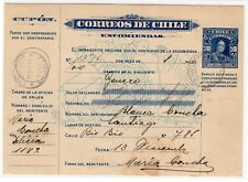 """Chile 1930 Boletín de Encomienda Parcel post 3p """"LASTRA"""" Linares Stgo. 178x124mm"""