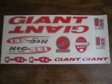 Giant Stickers Set  Red, Silver & White .XTC SE1