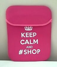 Gift for her! Keep Calm and #Shop Tablet Sleeve