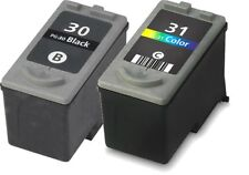 2-PK PG-30 CL-31 Black Color Ink Cartridges for Canon Printers