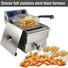 10L Commercial Restaurant Electric Deep Fryer w/ Timer & Drain Stainless Steel