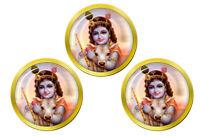 Enfant Krishna Hindou Marqueurs de Balles de Golf