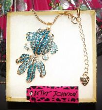 Betsey Johnson Goldfish Koi B/O Necklace Pendant Crystal Enamel Gift Box Bag NWT