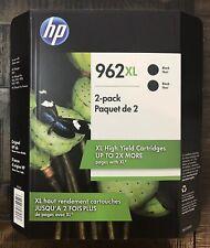 New HP 962XL High Yield Ink Cartridges 2 Pack Black