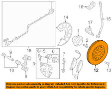 VW VOLKSWAGEN OEM 12-18 Beetle Front Brake-Disc Rotor 5C0615301D