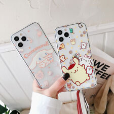 For iphone 12 11 Pro XS Max XR 7 8+ Cute Cartoon Cinnamoroll Dog soft phone Case