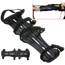 PU Leather Shooting Bow Archery Arm Guard Protector With 4 Adjustable Strap
