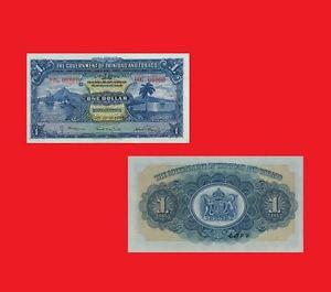 Trinidad & Tobago 1 Dollar 1939.  UNC - Reproductions