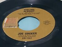 "JOE COCKER - FEELING ALRIGHT / SANDPAPER CADILLAC - 7"" VINYL 45 RPM"
