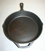 Lodge 6 USA 10SK 12 Inch. Cast Iron Skillet Frying Pan With Assist Handle
