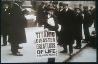 1 DOUBLE SIDED POSTCARD SIZE CARD, SO TWO TITANIC PHOTO'S , SEE PHOTOS FOR STYLE