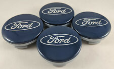 Set of 4 Ford Blue Wheel Hub Center Caps #CP9C-1A096-AA For Fiesta Edge Focus