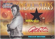 "2008 AMERICANA WORN SWATCH AUTO: WILLIAM SHATNER #19/25 AUTOGRAPH ""CAPTAIN KIRK"""