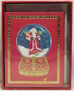 Papyrus Santa in Snow Globe Christmas Cards Box of 20
