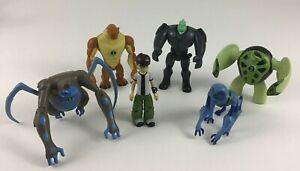 Ben 10 Alien Force Action Figure 6pc Lot Spidermonkey Ben Bandai Cartoon Network