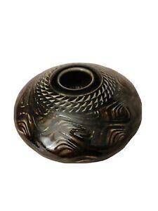 Green Art Pottery For Living Flower Stem Frog Vase Greg Johnson Donna Gilbert