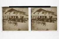 Chalet A Sci Montagne Foto N3 Placca Stereo 6x13cm Vintage