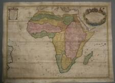 AFRICAN CONTINENT 1719 SANSON & JAILLOT UNUSUAL ANTIQUE COPPER ENGRAVED MAP
