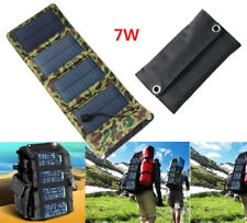 7W Folding Solar Power Charger Panel Bag USB Output for Mobile Phone Power Bank