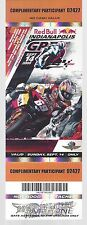 2008 RED BULL INDIANAPOLIS MOTORCYCLE RACE PARTICIPANT TICKET - INDY 500 TRACK