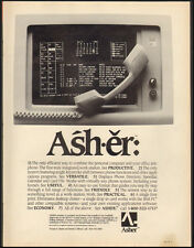 1984-Asher`personal computer/office phone`Wilcom, Inc. Roswell, Ga -Print Ad
