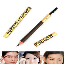 1PC Leopard Longlasting Brown Eyeliner Eyebrow Pencil With Brush Make Up W87