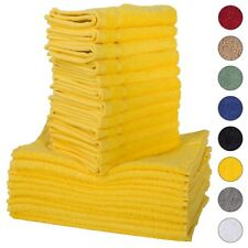 NEW YELLOW Color ULTRA SUPER SOFT LUXURY PURE TURKISH 100% COTTON WASHCLOTHS