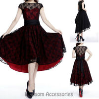 RK116 Rockabilly Party Lace Formal Evening Pin Up Retro Swing Rockabilly Dress