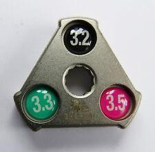 Pro Series Lifu Spoke Spanner Truing Key Tool 3.2mm, 3.3mm & 3.5mm Bicycle Bike