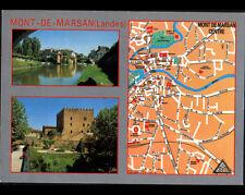 MONT-de-MARSAN (40) MONUMENT & PLAN du CENTRE VILLE en 1996