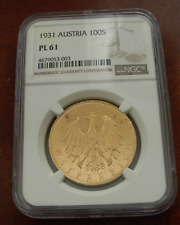 Österreich 1931 Gold 100 Schilling NGC PL61 Prooflike