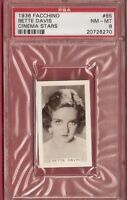 BETTE DAVIS 1936 FACCHINO CARD GRADED PSA 8 NM-MINT CINEMA STARS #85 ACTRESS