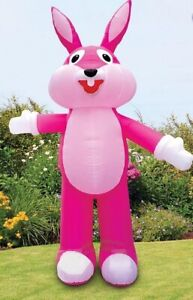 EASTER BUNNY PINK HUGE 12 FT AIRBLOWN INFLATABLE YARD DECORATION