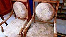 Paar stoelen Paire de fauteuils sculptés tapissés XIXème Pays-bas