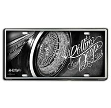 DGA Day of the Dead Lowrider Rollin Deep Vintage Auto License Tin Plate 12x6 Inc