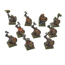 DWARFS 10 Ironbreakers METAL #1 PRO PAINTED Warhammer Ironbreaker OOP Command