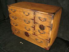 ANTIQUE JAPANESE 6 DRAWER  KIRI WOOD (PAULOWNIA) KO-DANSU TANSU CHEST LOCK & KEY