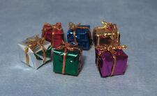 Dolls House Christmas Or Birthday Presents 6 Pack - 1.5cm, Miniature Xmas Small