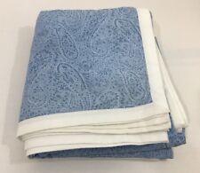 Williams Sonoma Home Duvet Cover Full Queen Blue White Paisley Cotton
