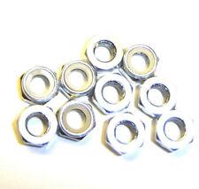 203000111 5mm M5 Argent Alliage Aluminium nylon écrous de serrage x 10