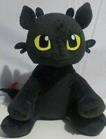 "Build-A-Bear How To Train Your Dragon Plush Toothless Stuffed AnimalBlack 14"""