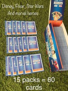 Sainsbury's disney Pixer Star Wars Marvel Heroes Card (New 15 Pack UnOpened)!!